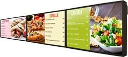 Менюборд комплект из 3-х панелей 43 дюйма с разрешением 4К, плюс 1 слайд меню в подарок - фото 16291