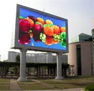 Уличный светодиодный видеоэкран, видеостена 7,20 м на 3,60 метра, шаг пикселя 10 мм