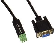 PureTools  PTM-RS100 Кабель-переходник с RS232  - 9 pin D-тип на 3х контактный Phoenix с DIP переключателями настройки. Длинна 1.5m