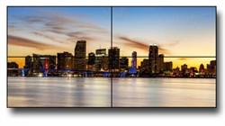 Видеостена 2х2 из панелей 55 дюймов, суммарный шов 3,5 мм - фото 15833