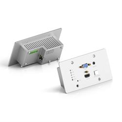 Врезная панель PureTools PT-HDBT-701-TXWP для передачи HDMI + VGA + Audio через HDBaseT  4K, 40m 4K / 70m 1080p - фото 21225