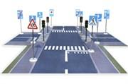 Мобильный Авто-городок «Юный пешеход» 15 кв. м.
