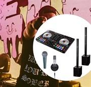 Колпмлект DJ оборудования мобильный и мощный