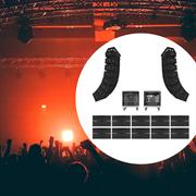 Комплект профессионального звука для больших открытых концертных площадок (Италия)