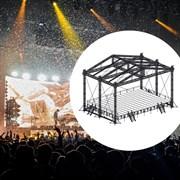 Сценический комплекс с замкнутым коньком с размером подиума 19,2 х 13,2 м, с электрической лебедкой.