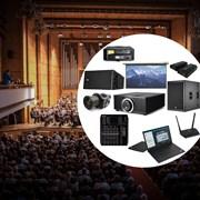 Комплект всероссийский виртуальный концертный зал аудио и видео оборудования для большого зала (более 160 мест) с проектором