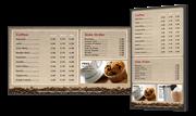 Цифровые меню борды из 2х панелей - акционное предложение