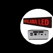 Светодиодная вывеска Размер 1920х480 мм, Яркость 1000 кд, Шаг пикселя 3, Разрешение 640x128