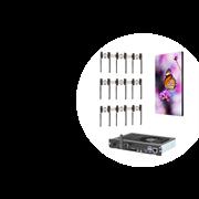 Комплект системы мониторинга, на основе Видеостены MultiSync®  конфигурации 3х3 и контроллера Hiperwall