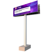 Светодиодный экран 10х5 для конструкций суперсайт