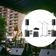 Мобильный комплект звука для живых выступлений (4 киловатта)