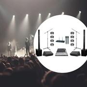 Мобильный комплект звука для живых выступлений- 1,5 киловатта. Небольшая сцена (4-6 метра)
