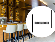 Акустические колонны  Yamaha для ресторана-бара в отель