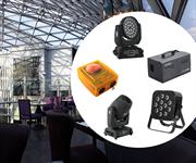 Комплект светового оборудования для ресторана в гостиничном комплексе со сценой до 20 кв.м.