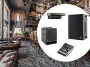 Комплект звукового оборудования для проведения банкетов в залах ресторана на 100 кв.м.