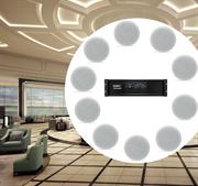 Комплект потолочной врезной трансляционной акустики  для гостиниц и отелей