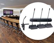 Комплект «Конференц-зал», врезная конгрес система с панелью без селектора каналов, до 15 человек